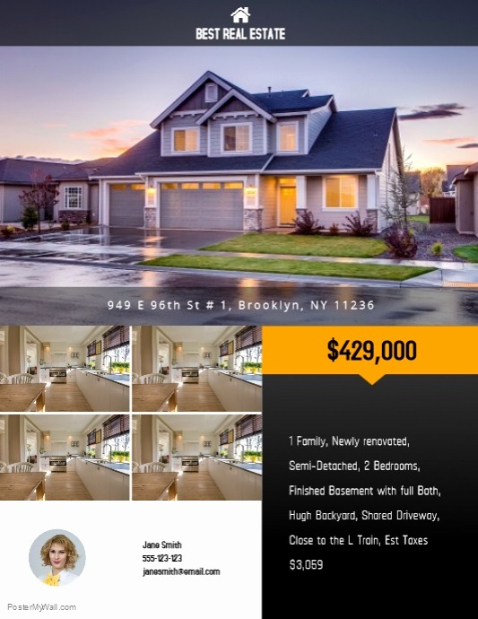 Home for Sale Flyer Templates Luxury Copy Of Real Estate Flyer Template
