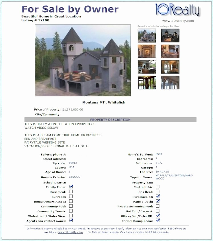 Home for Sale Flyer Templates Luxury Free Fsbo Listing Free for Sale by Owner Website