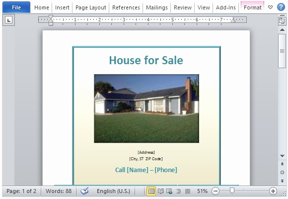 Home for Sale Flyer Templates Luxury House for Sale Flyer Template for Word