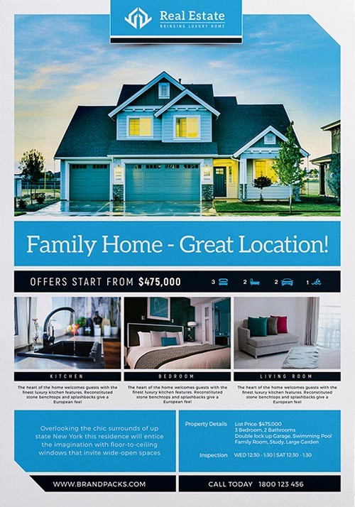Home for Sale Flyer Templates Luxury Real Estate Free Poster Template Download Psd Poster and