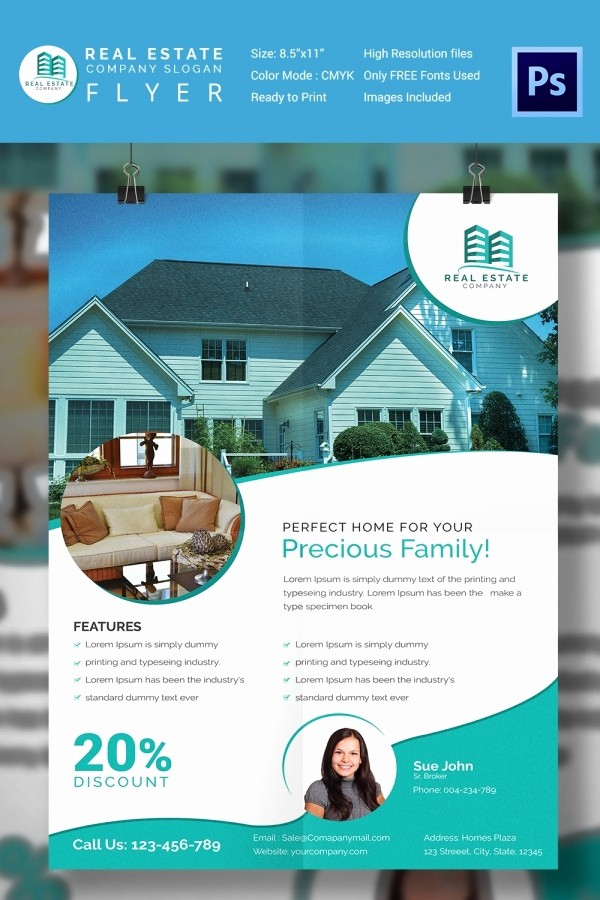 Home for Sale Flyer Templates New 15 Stylish House for Sale Flyer Templates & Designs