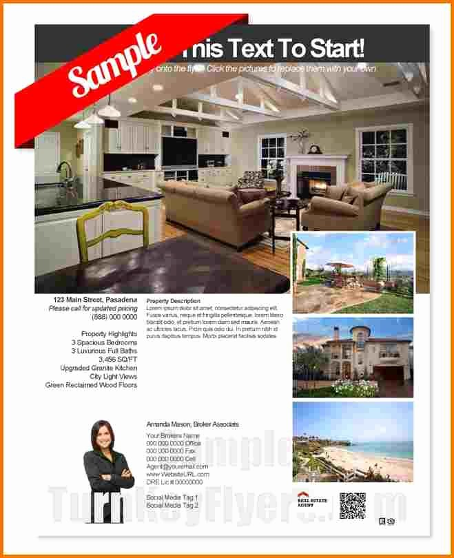 Home for Sale Flyer Templates New Free Real Estate Flyer Template