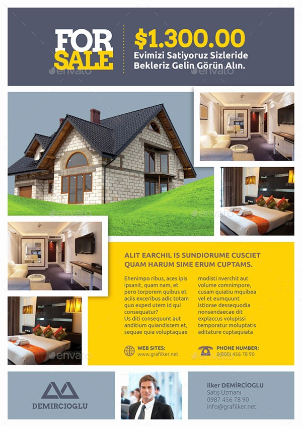 Home for Sale Flyer Templates New Real Estate Flyer Template 27 Free Psd Ai Vector Eps