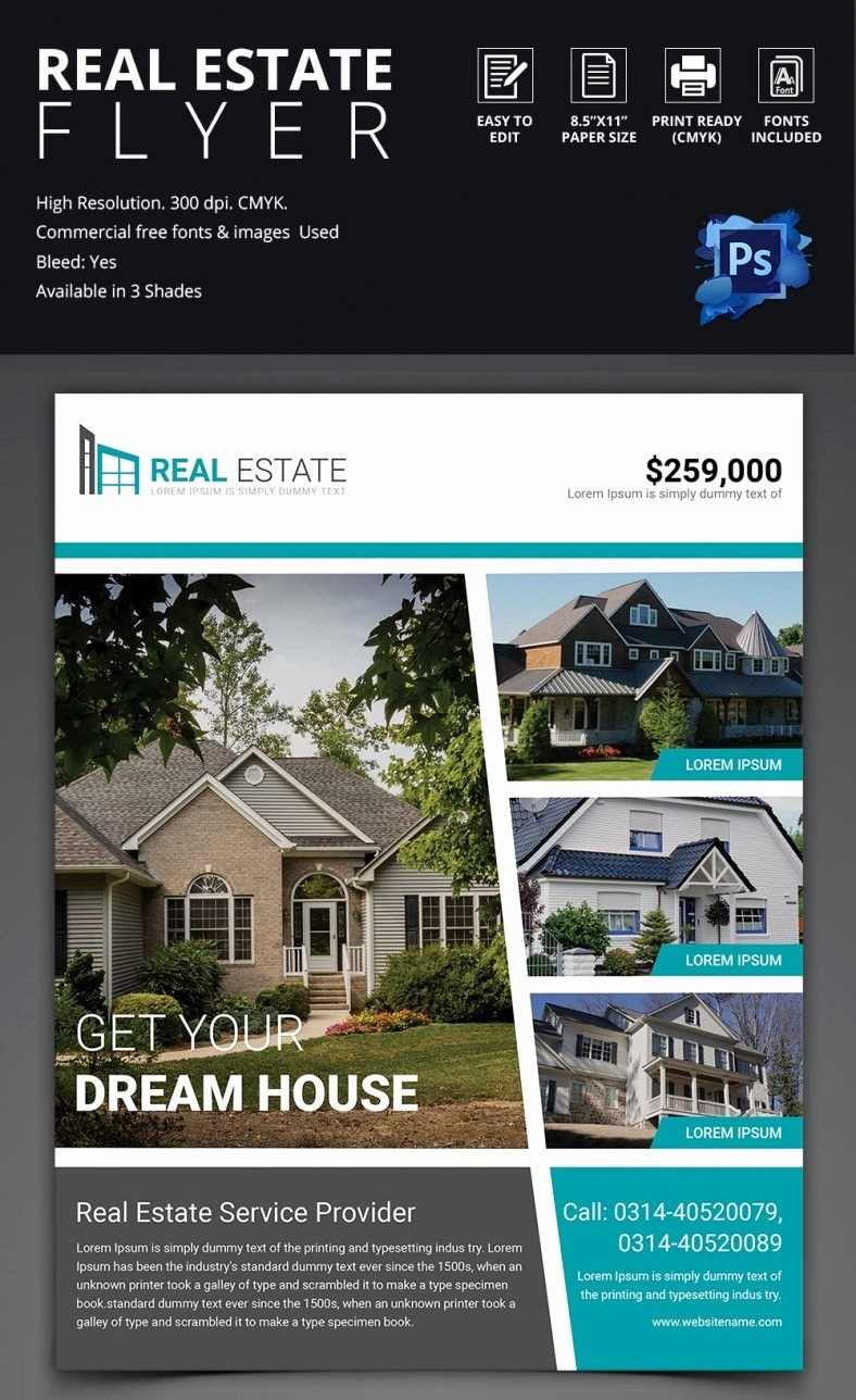 Home for Sale Flyer Templates Unique 44 Psd Real Estate Marketing Flyer Templates