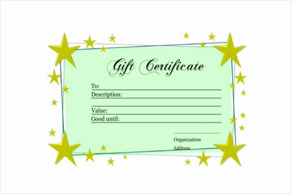 Homemade Gift Certificate Templates Free Fresh 6 Homemade Gift Certificate Templates Doc Pdf