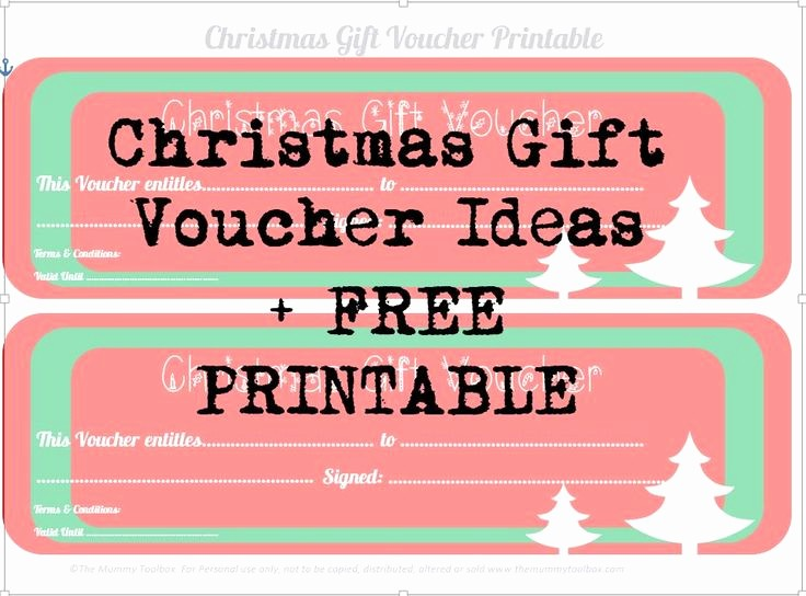 Homemade Gift Certificate Templates Free Inspirational Christmas Gift Voucher Ideas Free Printables