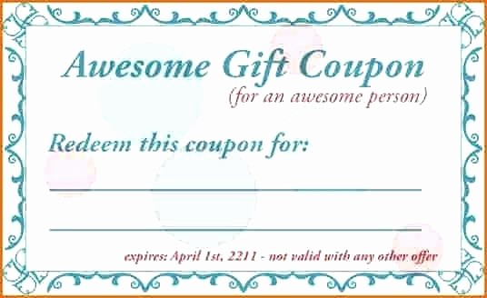 Homemade Gift Certificate Templates Free Inspirational Make Homemade Voucher Template Diy Christmas Gift My Own