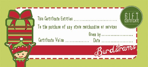 Homemade Gift Certificate Templates Free Luxury Free Holiday Gift Certificate Templates In Shop and