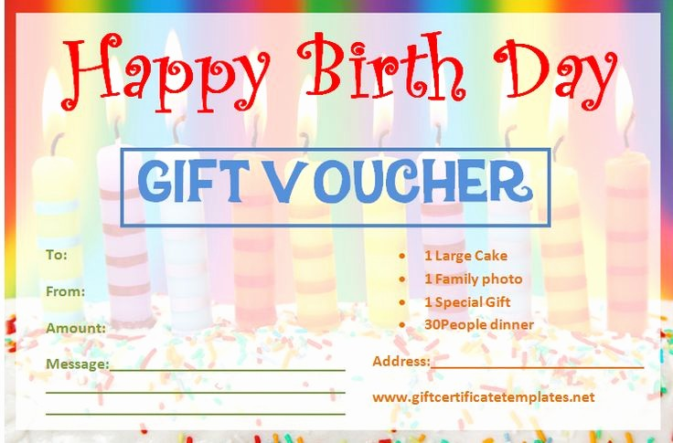 Homemade Gift Certificate Templates Free Unique Birthday Gift Certificate Templates by
