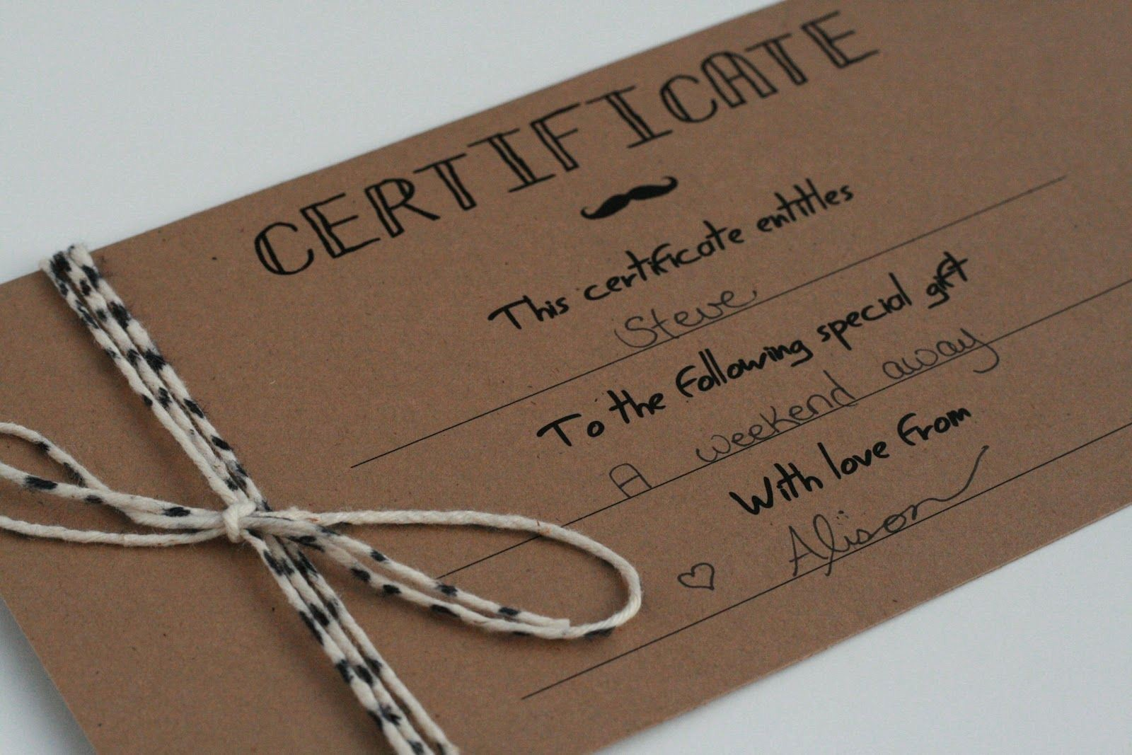Homemade Gift Certificate Templates Free Unique Diy T Certificates Template Google Search