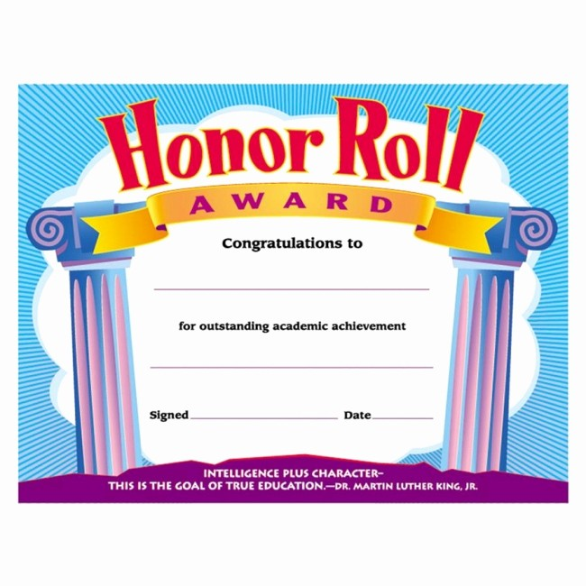Honor Roll Certificate Template Word Awesome Stallion Stomp
