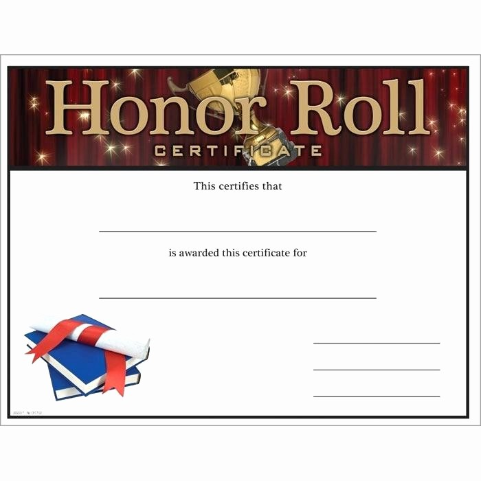 Honor Roll Certificate Template Word Beautiful Free Printable Honor Roll Certificate Template Award