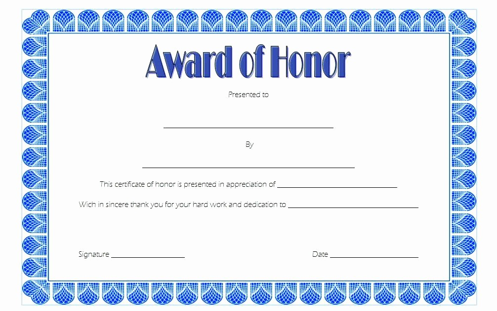 Honor Roll Certificate Template Word Best Of Certificate Honor Free Certificates Appreciation for