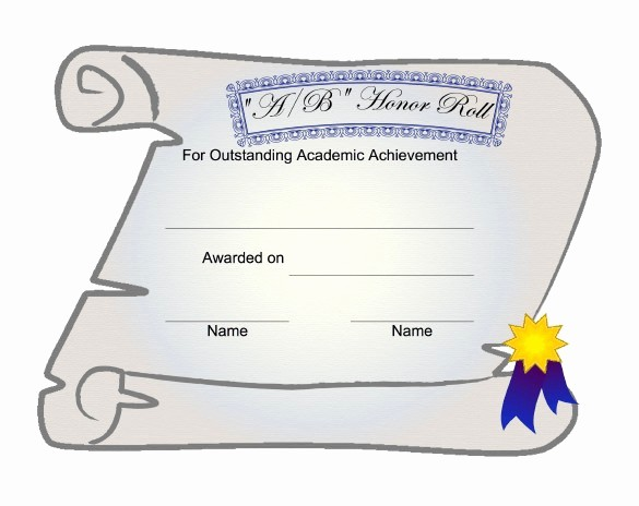 Honor Roll Certificate Template Word Elegant Free Honor Roll Certificate Template