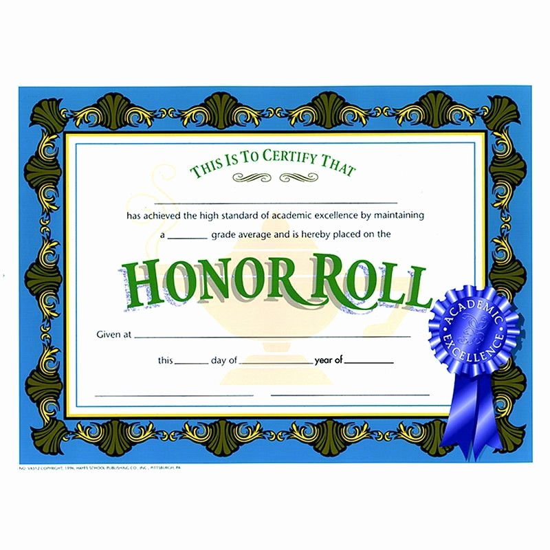Honor Roll Certificate Template Word Inspirational Ab Honor Roll Certificate Certificate Honor Roll