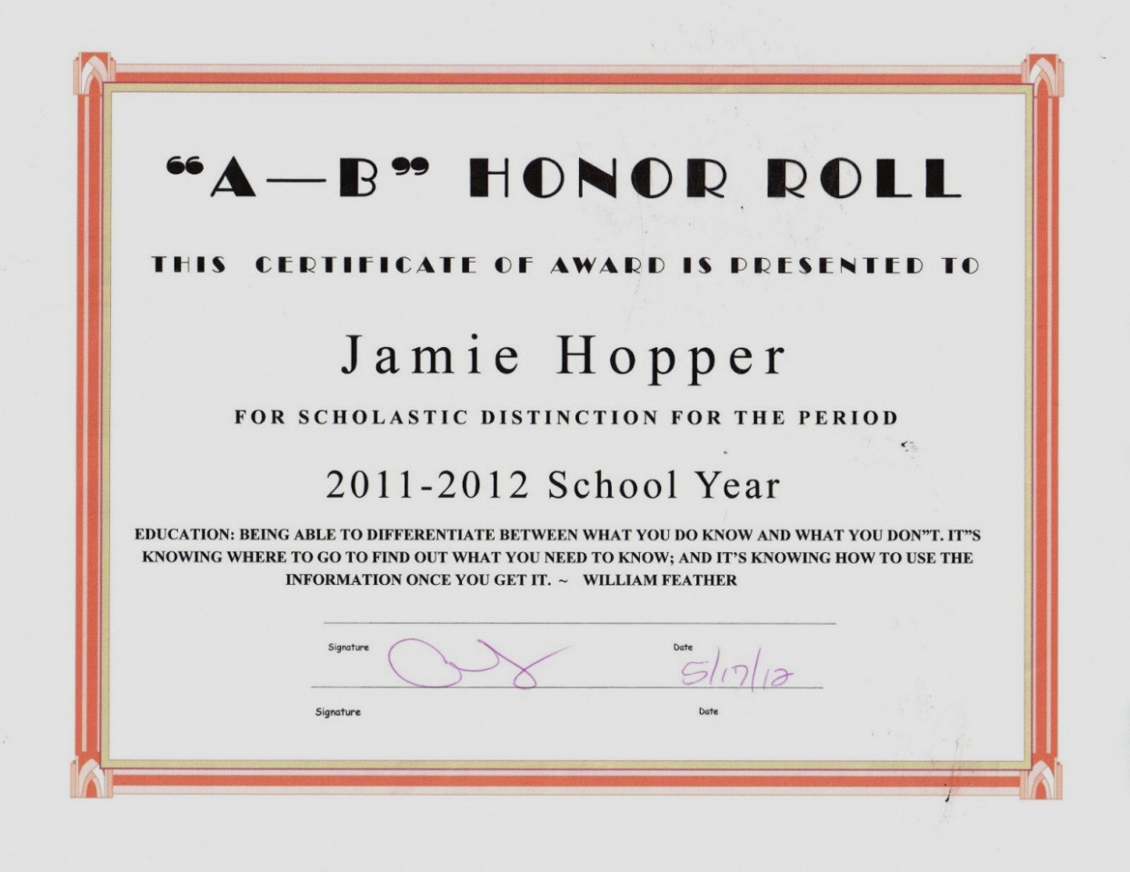 Honor Roll Certificate Template Word Lovely B Honor Roll Certificate Template Reeviewer