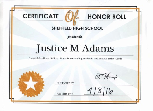 Honor Roll Certificate Template Word New May 2016