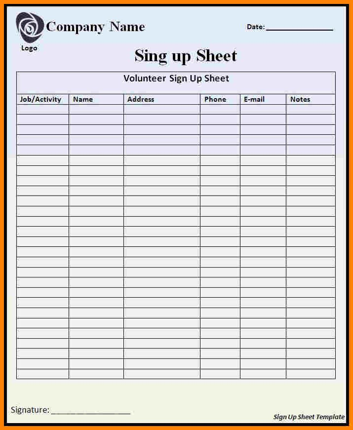 Hourly Sign Up Sheet Template Unique Hourly Sign Up Sheet Template Romeondinez