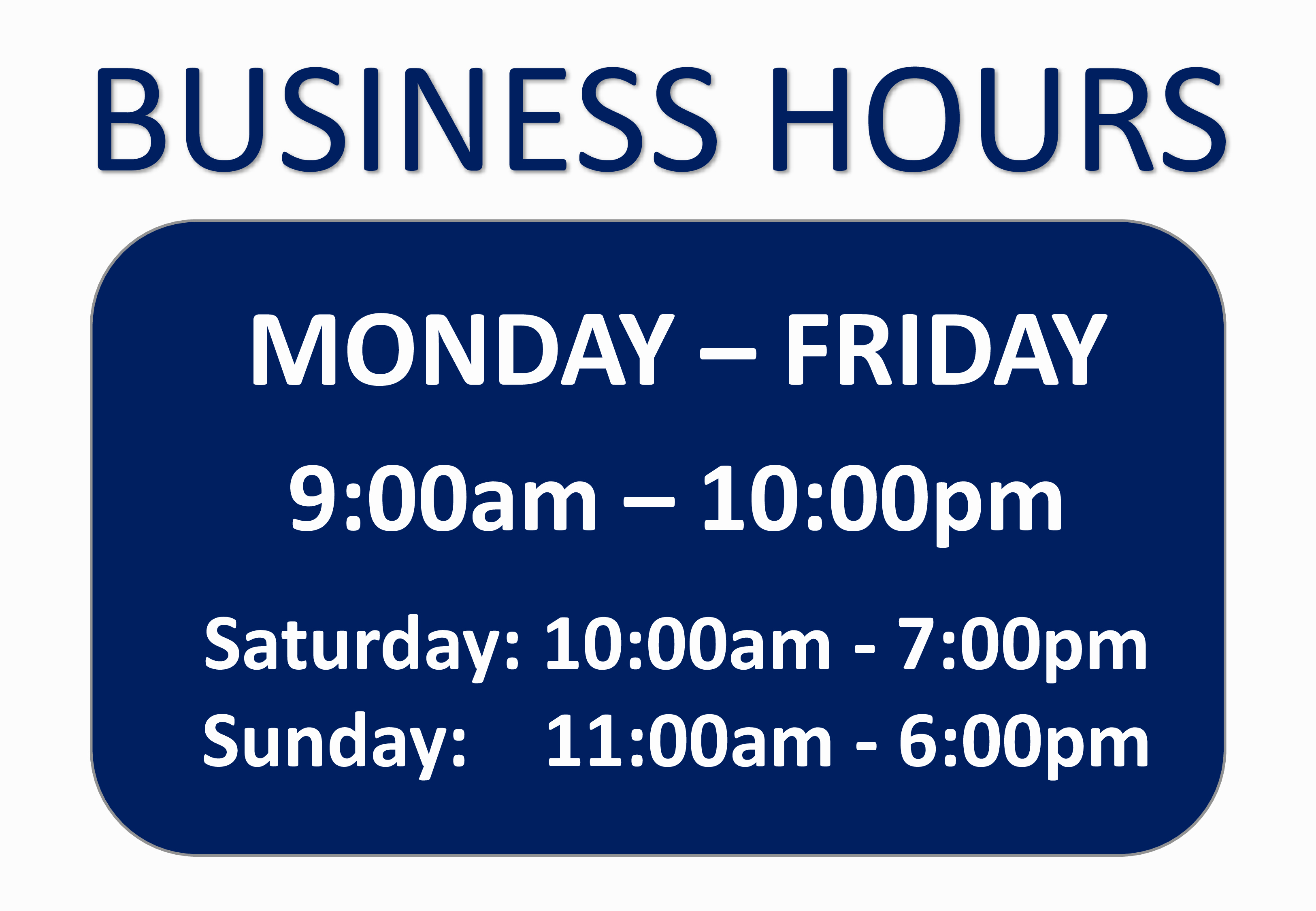 Hours Of Operation Template Word Beautiful Free Business Hours Sign