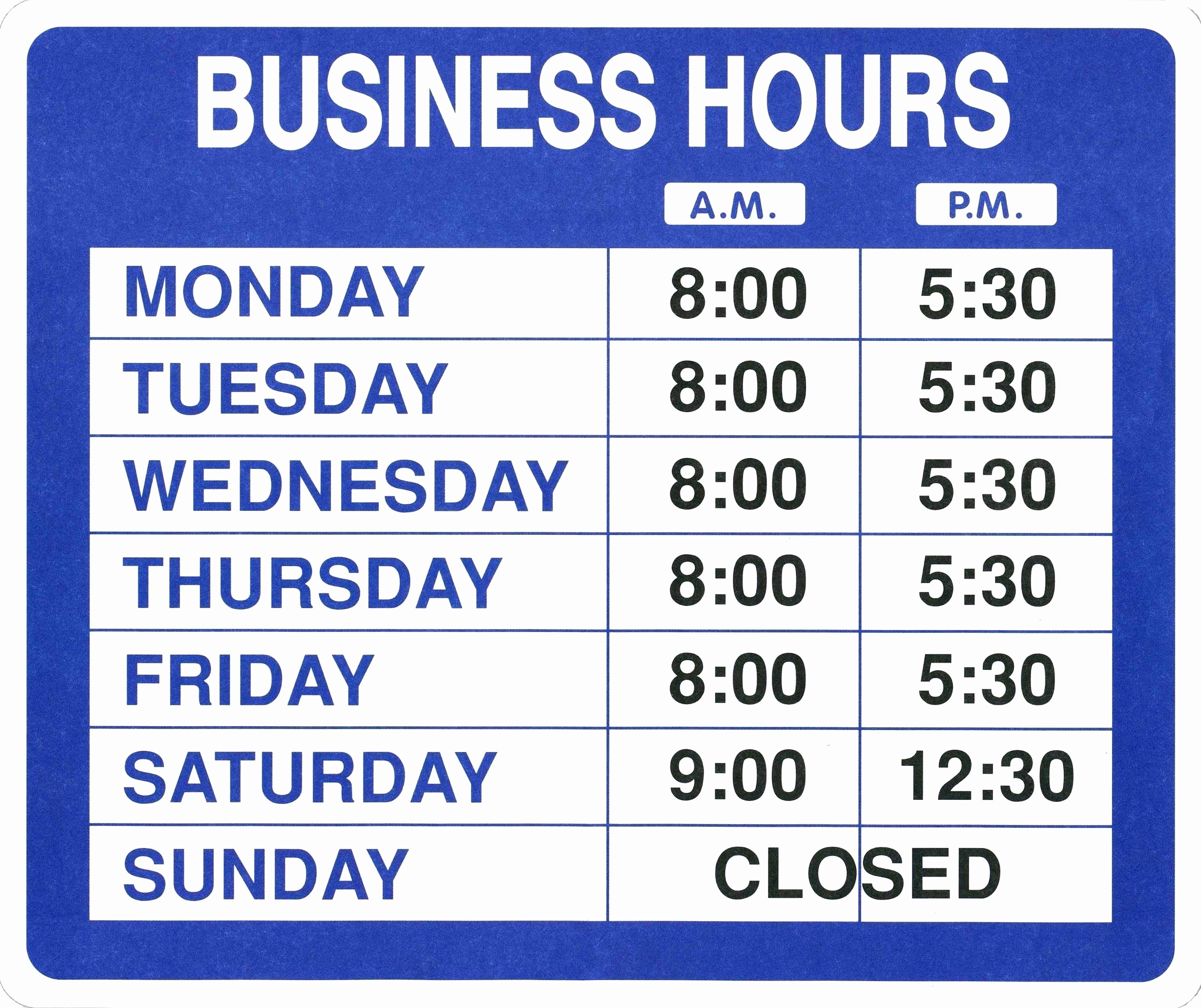 Hours Of Operation Template Word Fresh Template Fice Hours Template