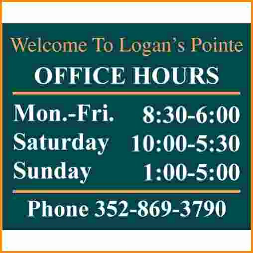 Hours Of Operation Template Word Fresh Template for Business Hours Sign C7f7107b0c50 Proshredelite