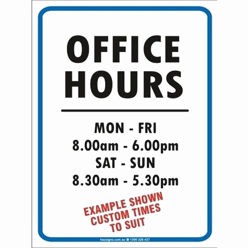 Hours Of Operation Template Word Inspirational Business Hours Template Word – Cashinghotnichesfo
