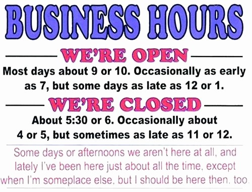 Hours Of Operation Template Word Inspirational Holiday Hours Operation Template Templates Free
