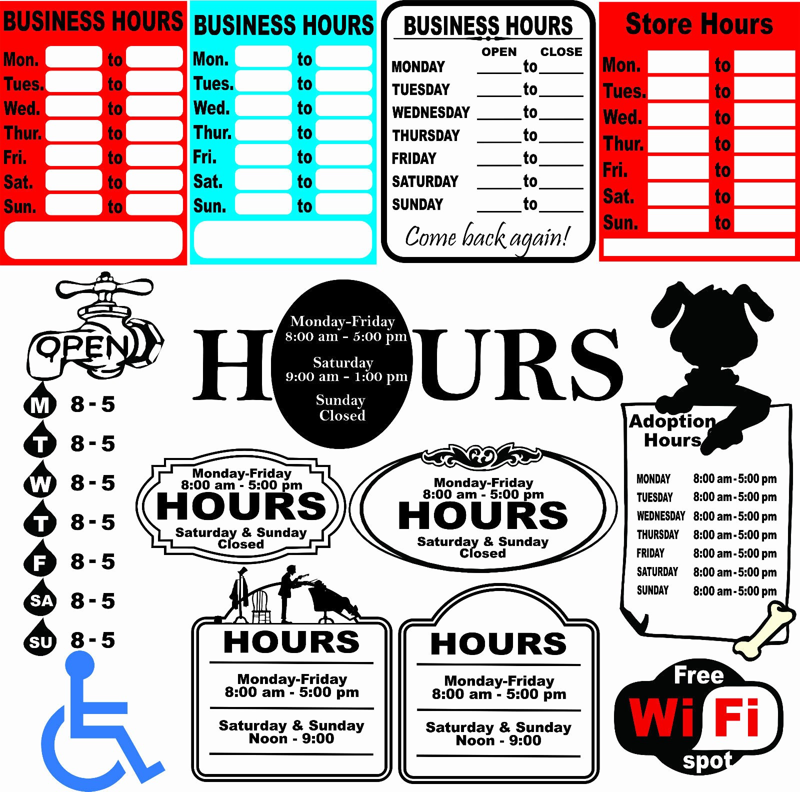 Hours Of Operation Template Word Lovely Business Hours Sign Template Business Hours Template Word
