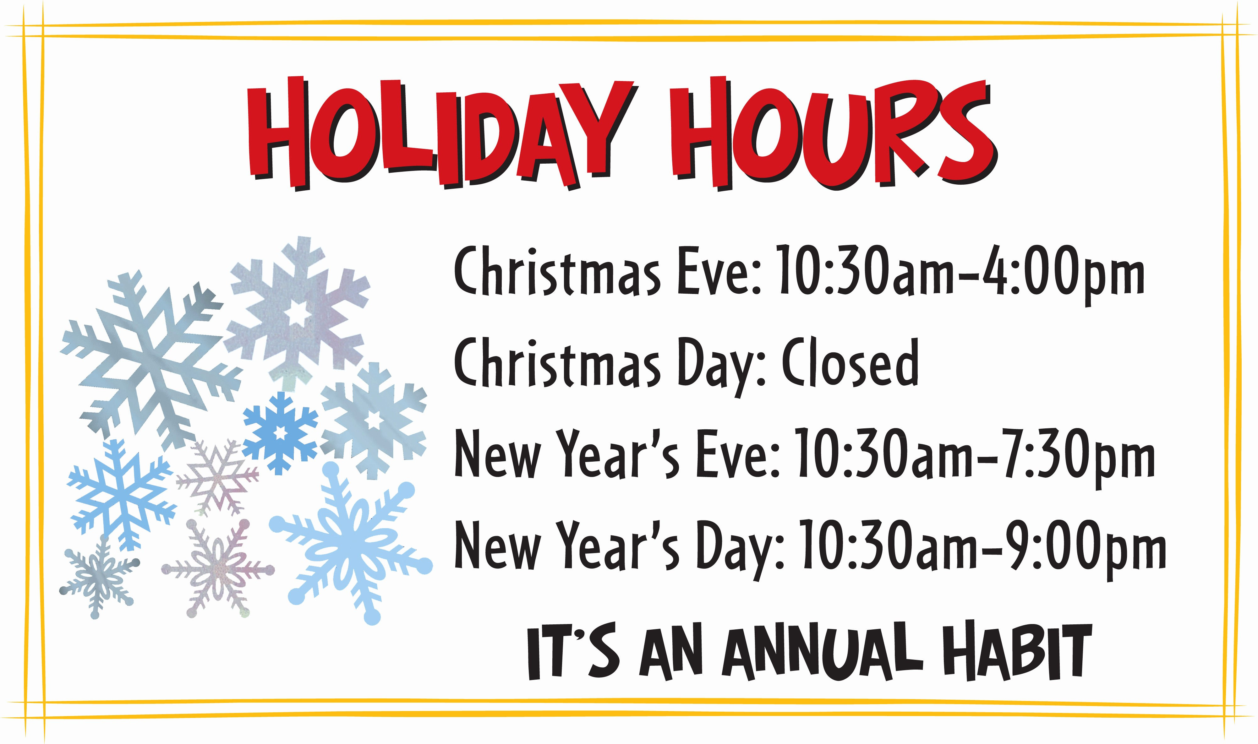 Hours Of Operation Template Word Unique Free Holiday Business Hours Sign Template
