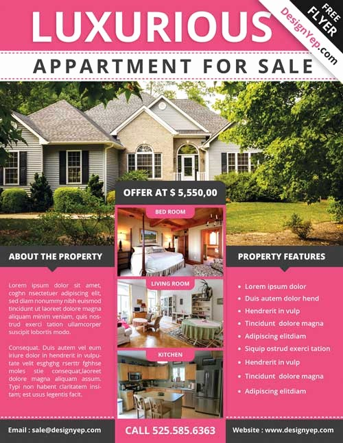 House for Sale Flyer Template Awesome Download Free Real Estate Flyer Psd Flyer Template