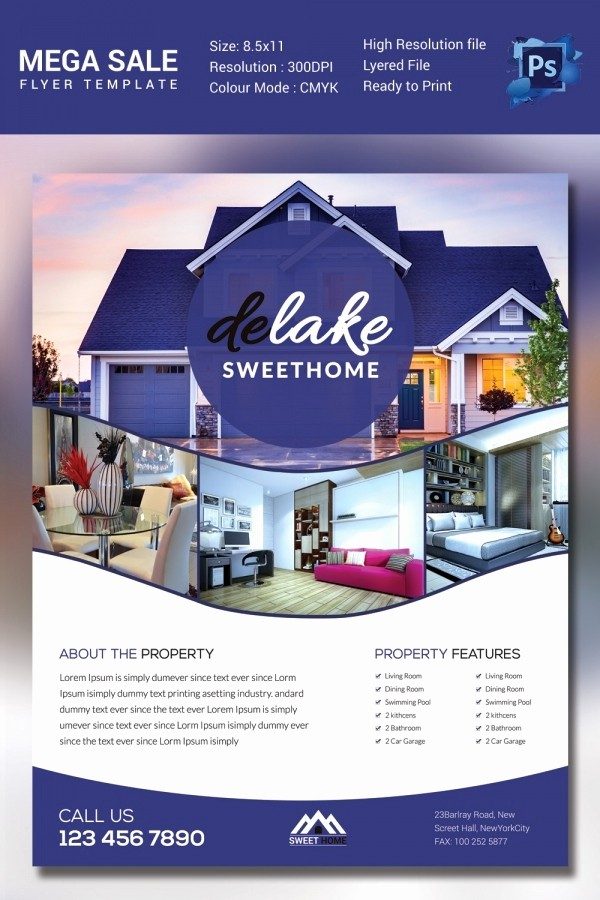 House for Sale Flyer Template Awesome Sales Flyer Template 61 Free Psd format Download