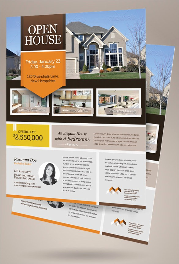 House for Sale Flyer Template Beautiful 13 House for Sale Flyer Templates