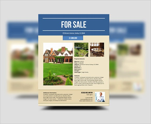House for Sale Flyer Template Beautiful 20 Stylish House for Sale Flyer Templates & Designs