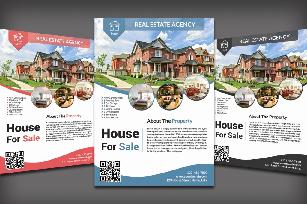House for Sale Flyer Template Beautiful Listing Flyers for Real Estate Agents and Homeowners
