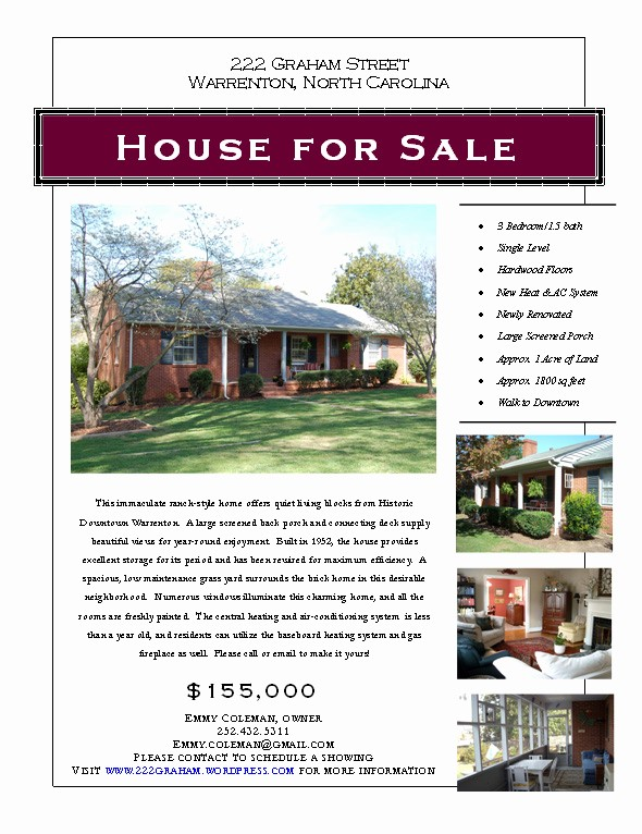 House for Sale Flyer Template Best Of Graphic Design