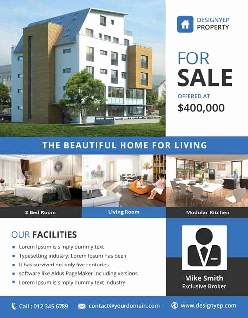 House for Sale Flyer Template Elegant Download the Best Free Real Estate Flyer Templates for