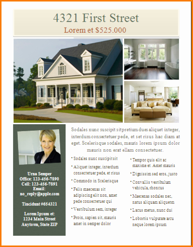 House for Sale Flyer Template Elegant Free Real Estate Flyer Template