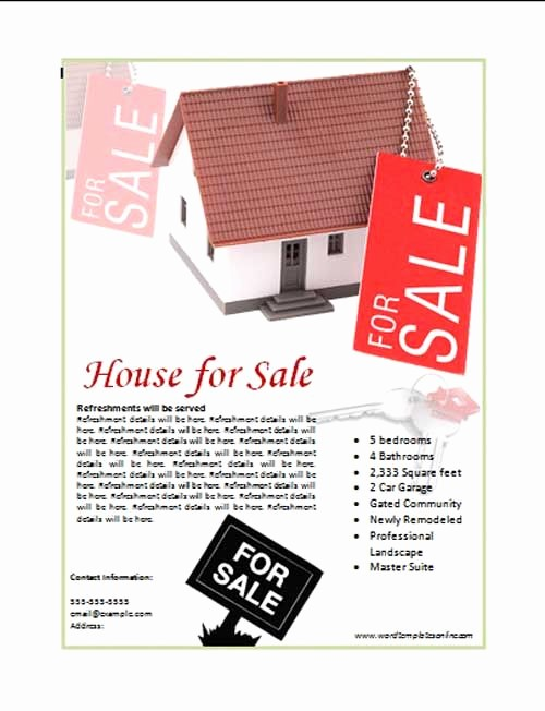 House for Sale Flyer Template Elegant House for Sale Poster Template the House for Sale Ad