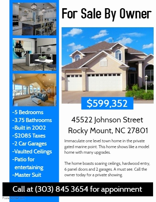 House for Sale Flyer Template Elegant Real Estate Flyer Template
