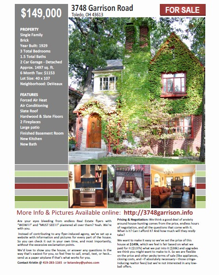 House for Sale Flyer Template Inspirational Diy Resources for Sale by Owner Diydiva