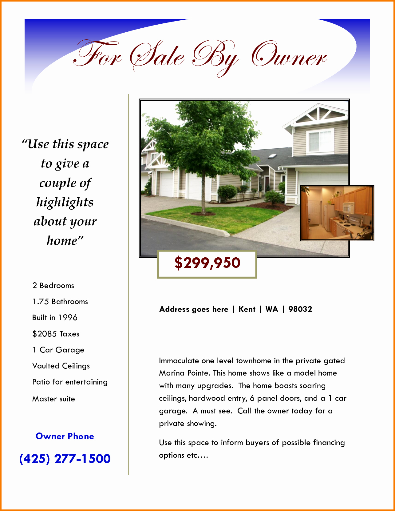 House for Sale Flyer Template Inspirational for Sale Flyer Template