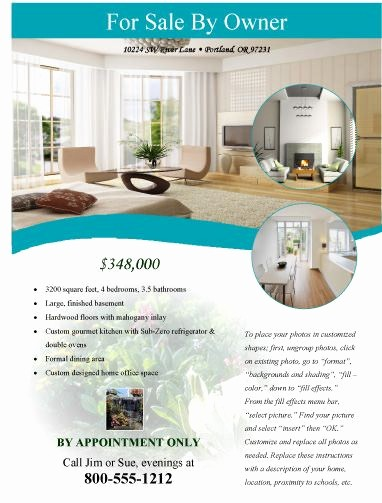 House for Sale Flyer Template Inspirational Modern Flyer for Sale by Owner