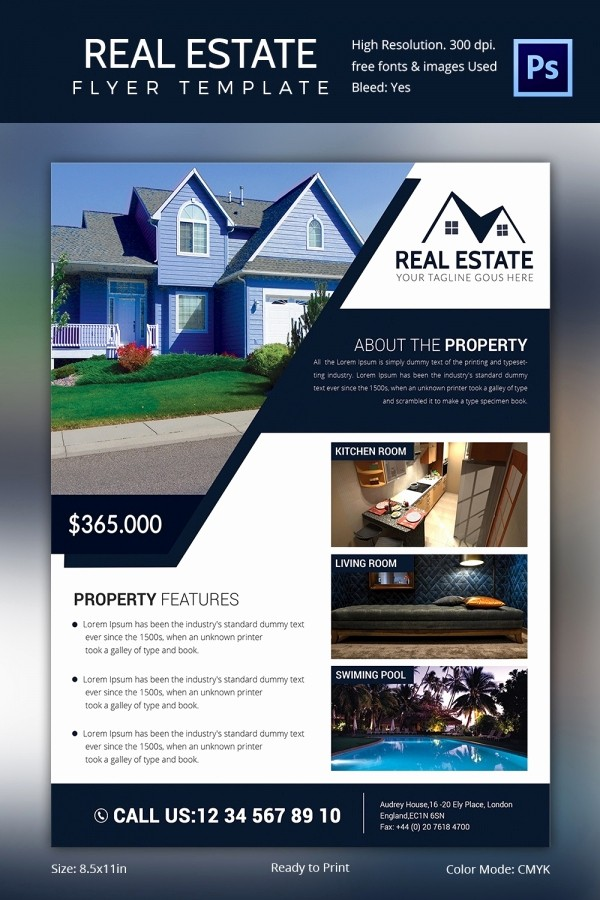 House for Sale Flyer Template Inspirational Real Estate Flyer Template 37 Free Psd Ai Vector Eps