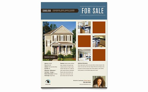 House for Sale Flyer Template Luxury Real Estate Flyer Templates Word & Publisher