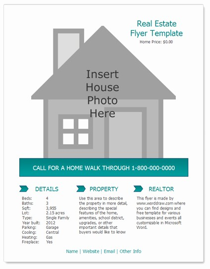 House for Sale Flyer Template New 24 Stunning Real Estate Flyer Templates Demplates
