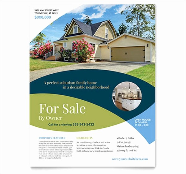 House for Sale Flyer Template New 39 Real Estate Flyer Templates Ai Word Psd Eps