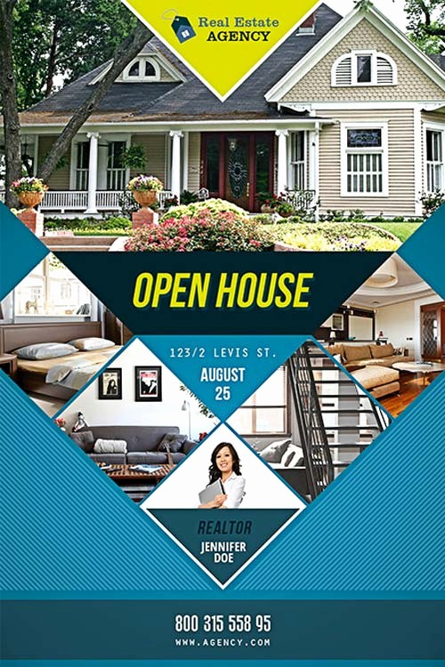 House for Sale Flyer Template New Free Open House Flyer Template Download Psd for Shop