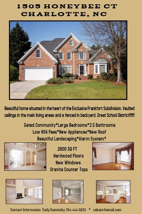 House for Sale Flyer Template New Home for Sale Flyer Template