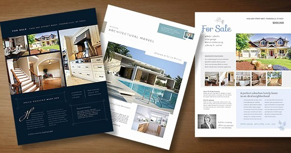 House for Sale Flyer Template New Real Estate Flyer Templates to Market Your Property