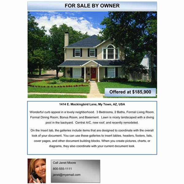 House for Sale Flyer Template Unique 10 Best Of Home by Owner Brochure Template for